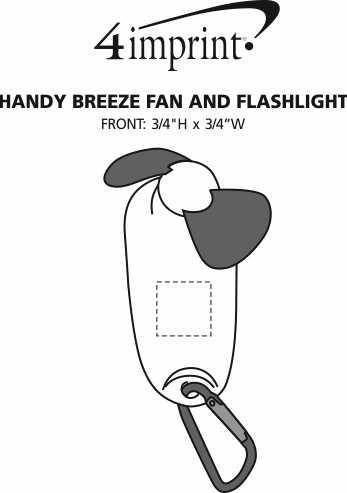 Imprint Area of Handy Breeze Fan and Flashlight