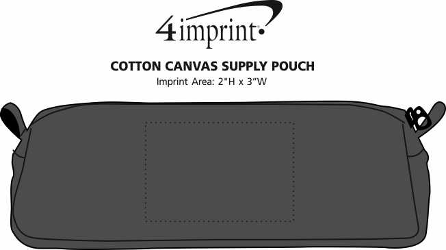 Imprint Area of Cotton Canvas Supply Pouch
