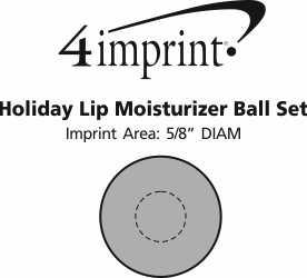 Imprint Area of Holiday Lip Moisturizer Ball Set