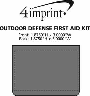 Imprint Area of Outdoor Defense First Aid Kit