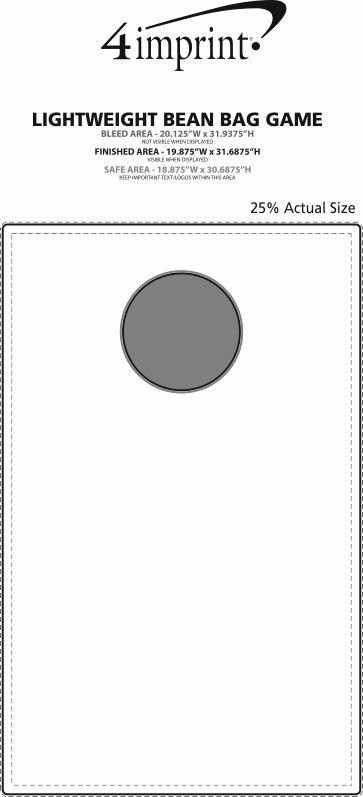 Imprint Area of Lightweight Bean Bag Game