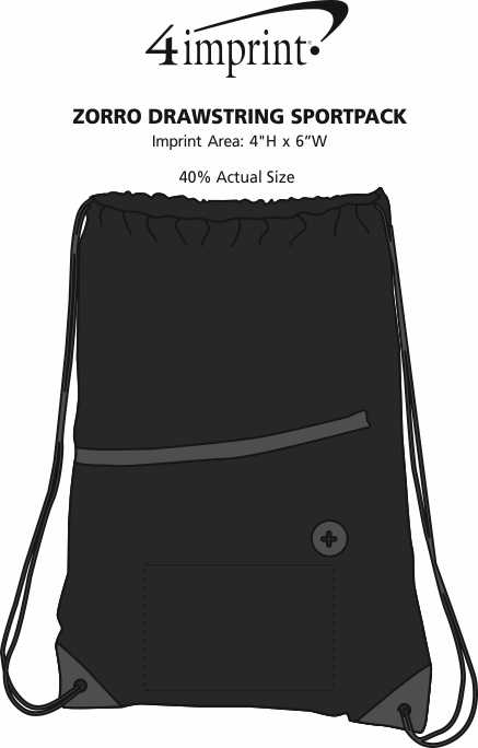 Imprint Area of Zorro Drawstring Sportpack