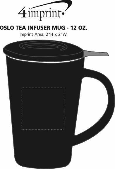 Imprint Area of Oslo Tea Infuser Mug - 12 oz.