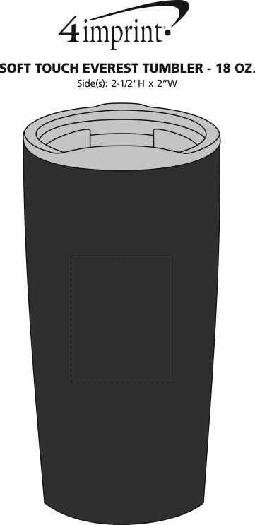 Imprint Area of Soft Touch Everest Tumbler - 18 oz.