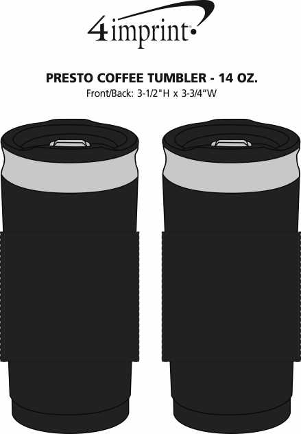 Imprint Area of Presto Coffee Press Tumbler - 14 oz.