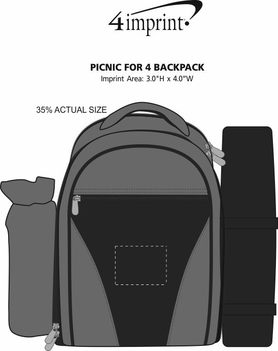 Imprint Area of Picnic for 4 Backpack