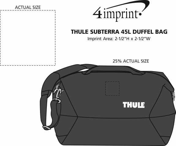 Imprint Area of Thule Subterra 45L Duffel Bag