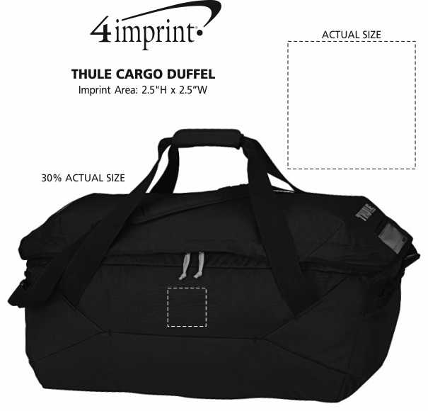 Imprint Area of Thule Cargo Duffel