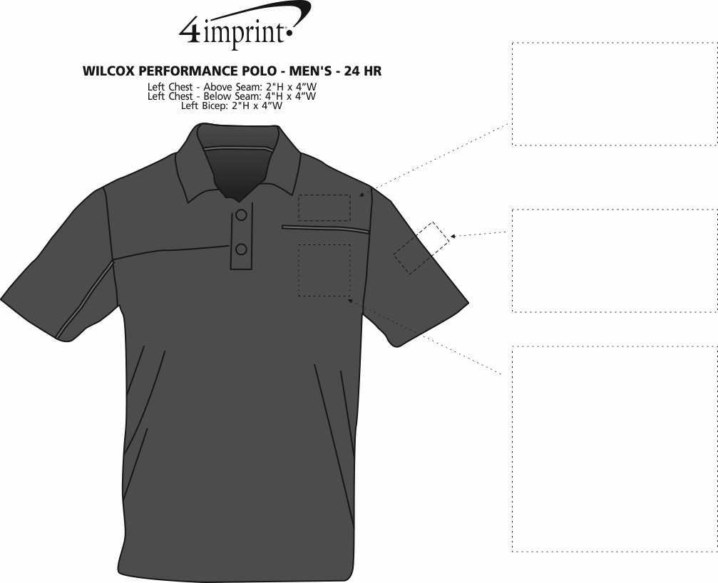Imprint Area of Wilcox Performance Polo - Men's - 24 hr