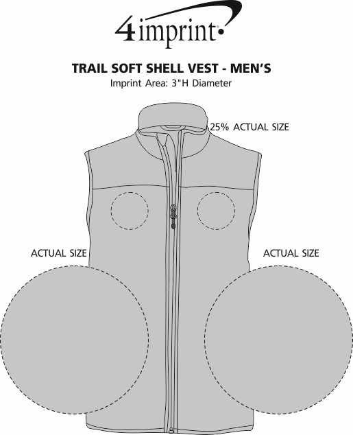 Imprint Area of Trail Soft Shell Vest - Men's