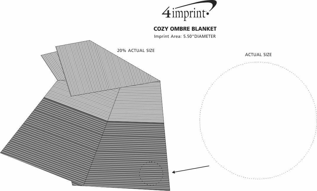Imprint Area of Cozy Ombre Blanket