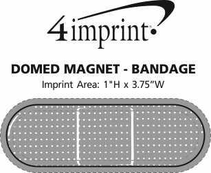 Imprint Area of Domed Magnet - Bandage