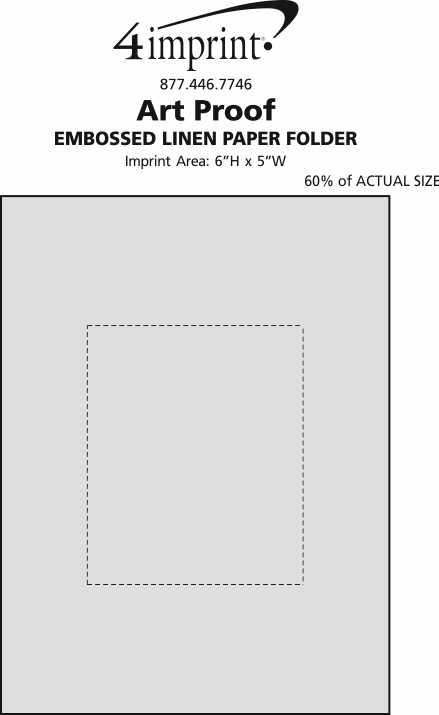 Imprint Area of Embossed Linen Paper Folder