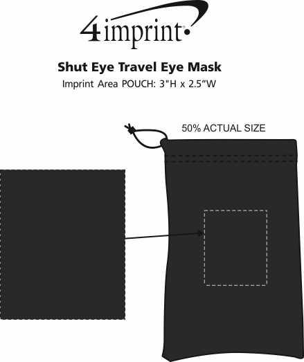 Imprint Area of Shut Eye Travel Eye Mask