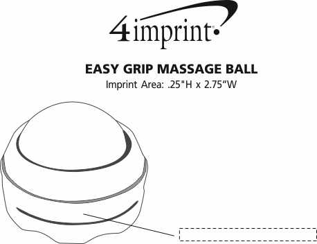 Imprint Area of Easy Grip Massage Ball