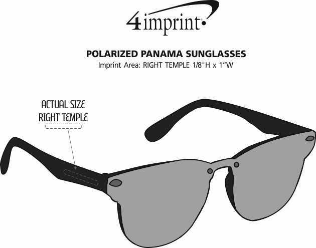 Imprint Area of Panama Sunglasses