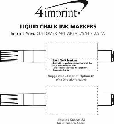 Imprint Area of Liquid Chalk Ink Markers