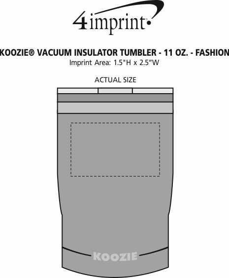 Imprint Area of Koozie® Vacuum Insulator Tumbler - 11 oz. - Fashion