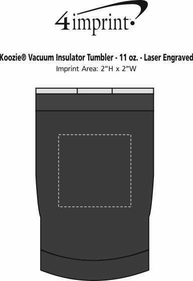 Imprint Area of Koozie® Vacuum Insulator Tumbler - 11 oz. - Laser Engraved