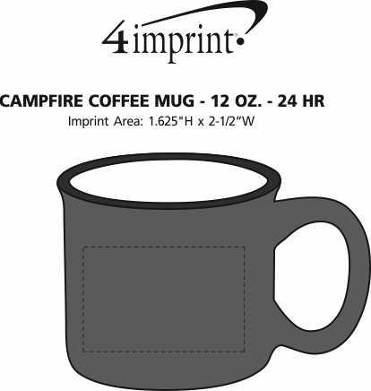 Imprint Area of Blaze Coffee Mug - 12 oz. - 24 hr
