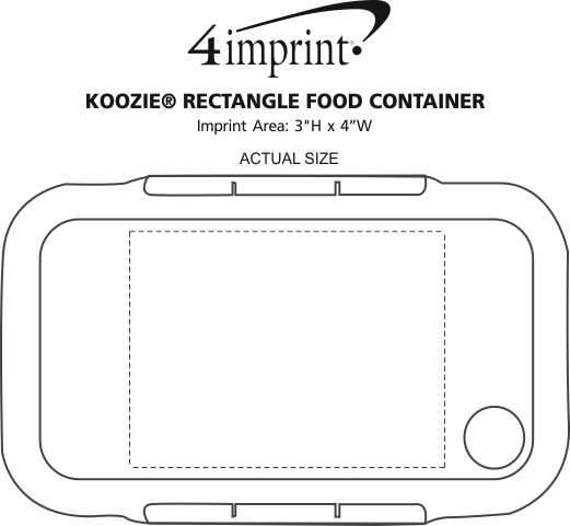 Imprint Area of Koozie® Rectangle Food Container