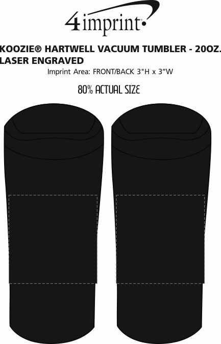 Imprint Area of Koozie® Hartwell Vacuum Tumbler - 20 oz. - Laser Engraved