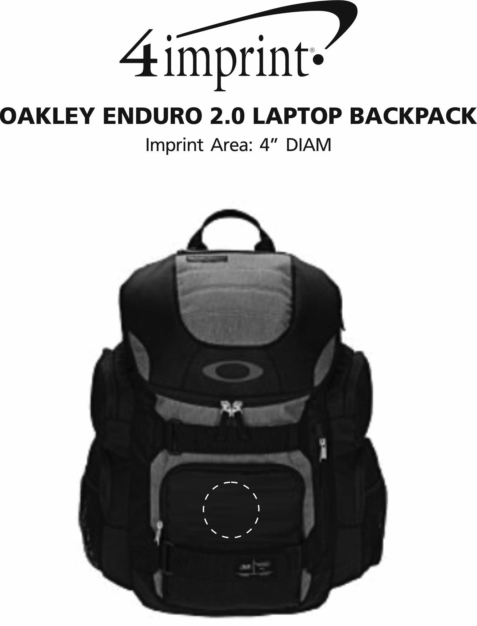 Imprint Area of Oakley Enduro 2.0 Laptop Backpack