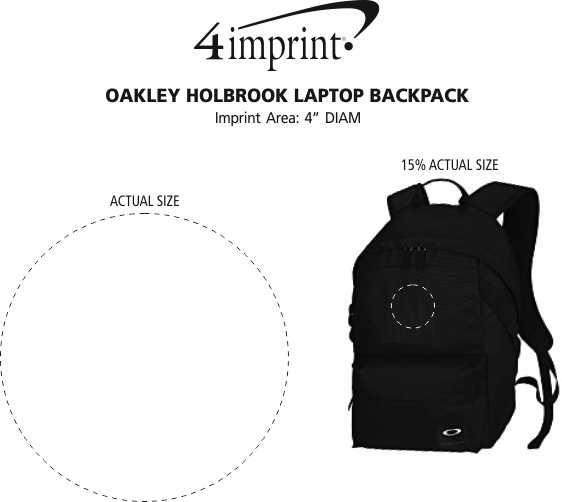 Imprint Area of Oakley Holbrook Laptop Backpack