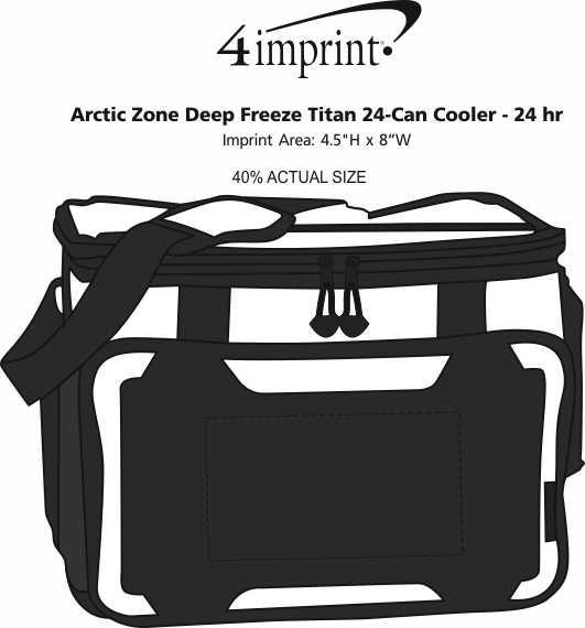 Imprint Area of Arctic Zone Titan Deep Freeze 24-Can Cooler - 24 hr