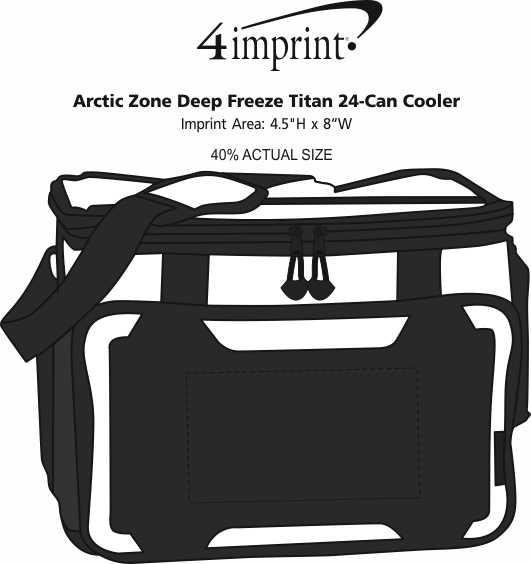 Imprint Area of Arctic Zone Titan Deep Freeze 24-Can Cooler
