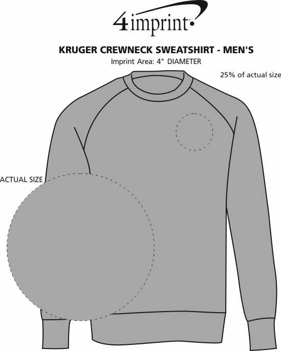 Imprint Area of Kruger Crewneck Sweatshirt - Men's