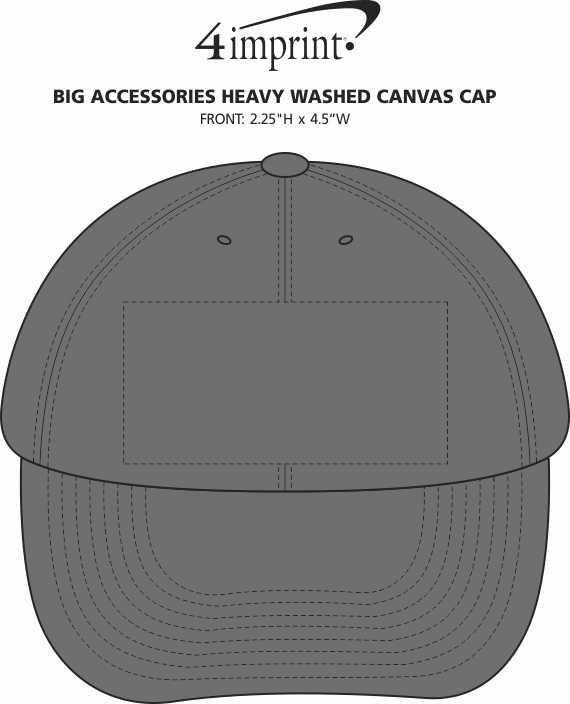 Imprint Area of Big Accessories Heavy Washed Canvas Cap