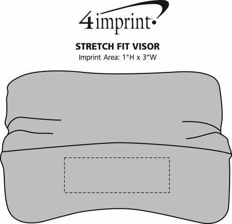 Imprint Area of Stretch Fit Visor