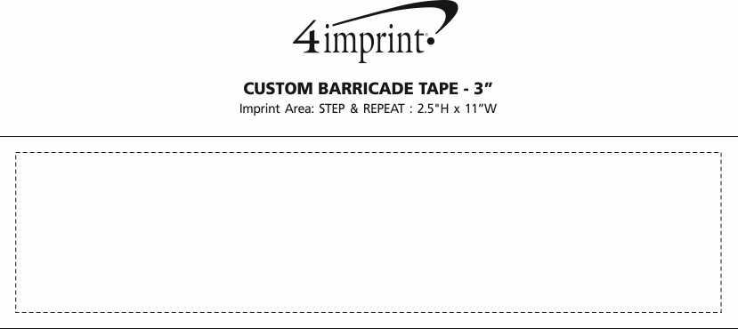 "Imprint Area of Custom Barricade Tape - 3"""