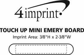 Imprint Area of Touch Up Mini Emery Board