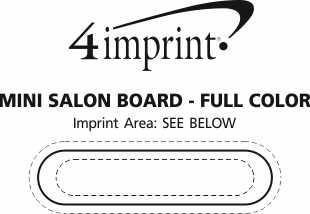 Imprint Area of Mini Salon Board - Full Color