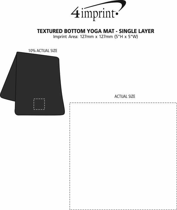 Imprint Area of Textured Bottom Yoga Mat - Single Layer