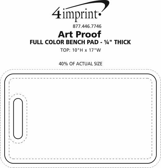 """Imprint Area of Full Color Bench Pad - 1/4"""" Thick"""