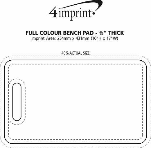 "Imprint Area of Full Color Bench Pad - 3/4"" Thick"