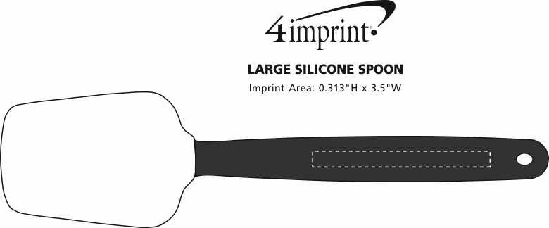 Imprint Area of Large Silicone Spoon