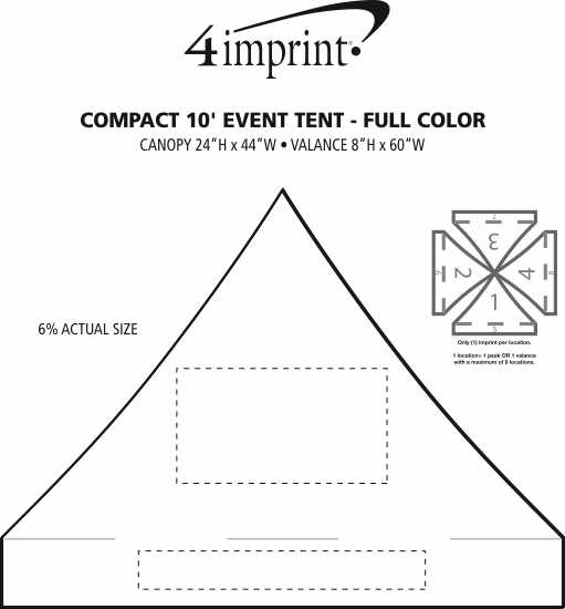 Imprint Area of Compact 10' Event Tent