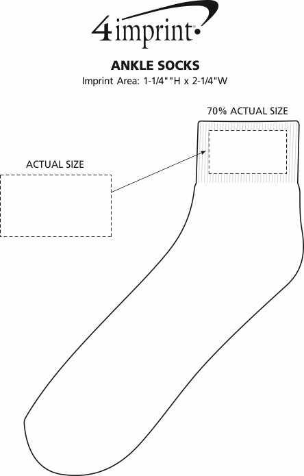 Imprint Area of Ankle Socks