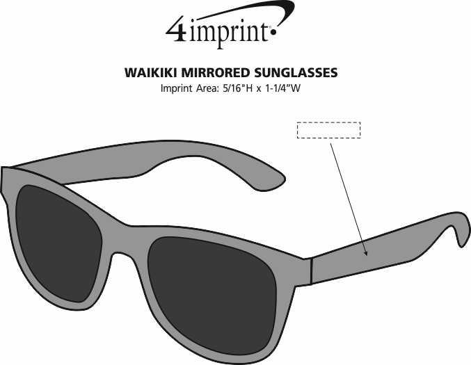 Imprint Area of Waikiki Mirrored Sunglasses