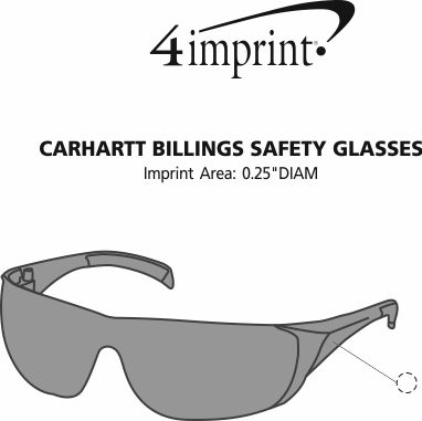 Imprint Area of Carhartt Billings Safety Glasses