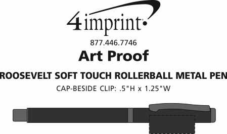 Imprint Area of Roosevelt Soft Touch Rollerball Metal Pen