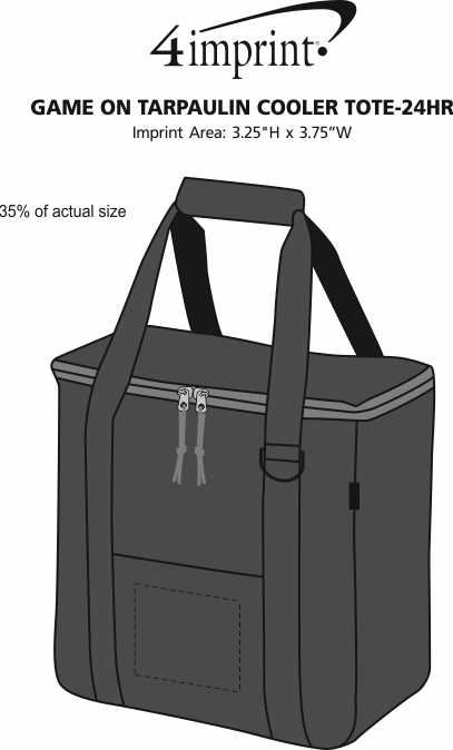 Imprint Area of Game On Tarpaulin Cooler Tote- 24 hr
