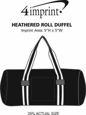 Imprint Area of Heathered Roll Duffel