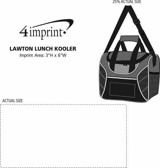 Imprint Area of Lawton Lunch Kooler