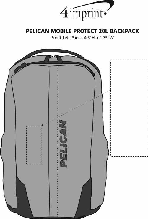 Imprint Area of Pelican Mobile Protect 20L Backpack
