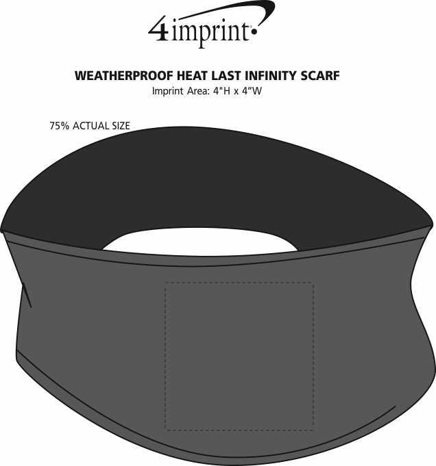 Imprint Area of Weatherproof Heat Last Infinity Scarf